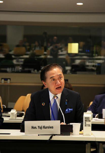 国際本部でSDGsの取り組みについてスピーチ